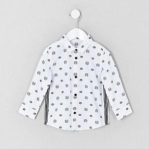 Mini boys white RI crown print shirt