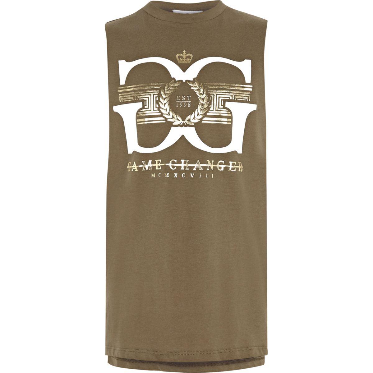 Boys khaki 'game changer' vest