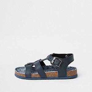Sandales bleu marine avec semelle en liège garçon