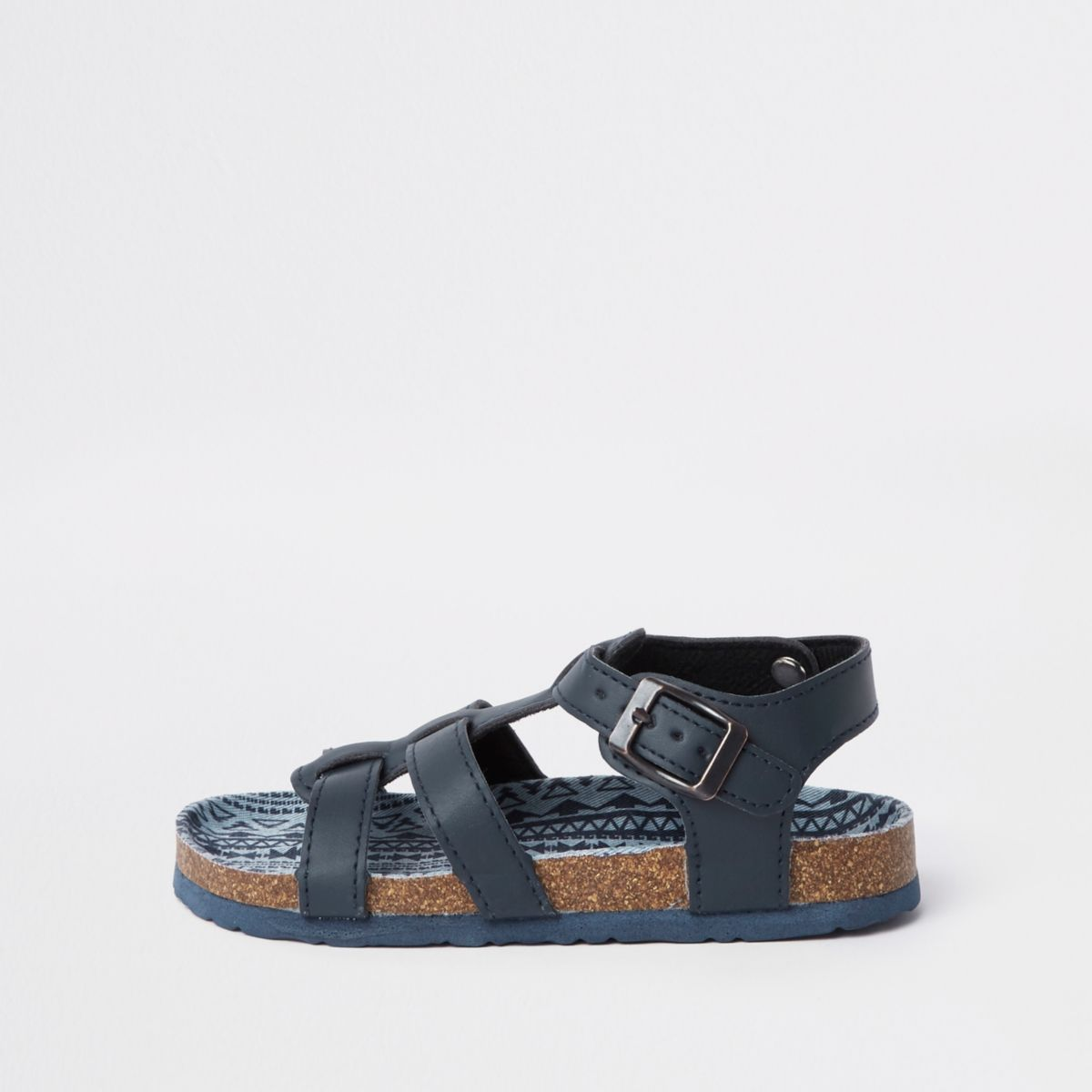 Boys navy corkbed sandals