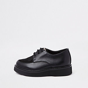 RI 30 mini boys black creeper shoes