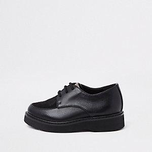 RI 30 - Mini- Zwarte schoenen met rubber zool voor jongens