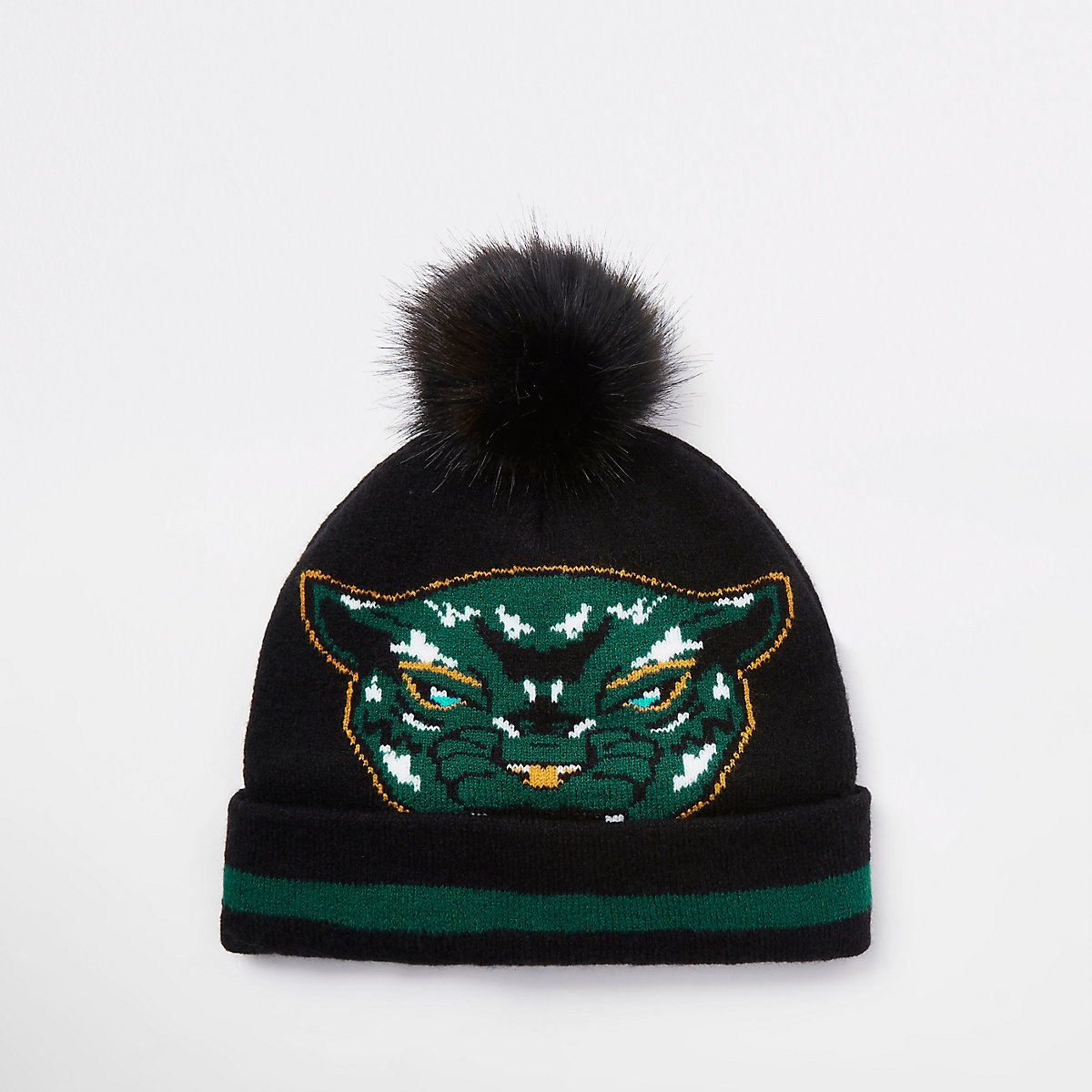 Boys Black Panther faux fur beanie hat - Hats - Accessories - boys 69ef2552f72