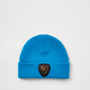 Blaue Beanie