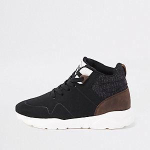 Zwarte hoge sneakers voor jongens