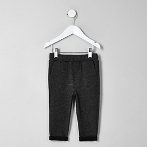 Mini boys grey marl trousers