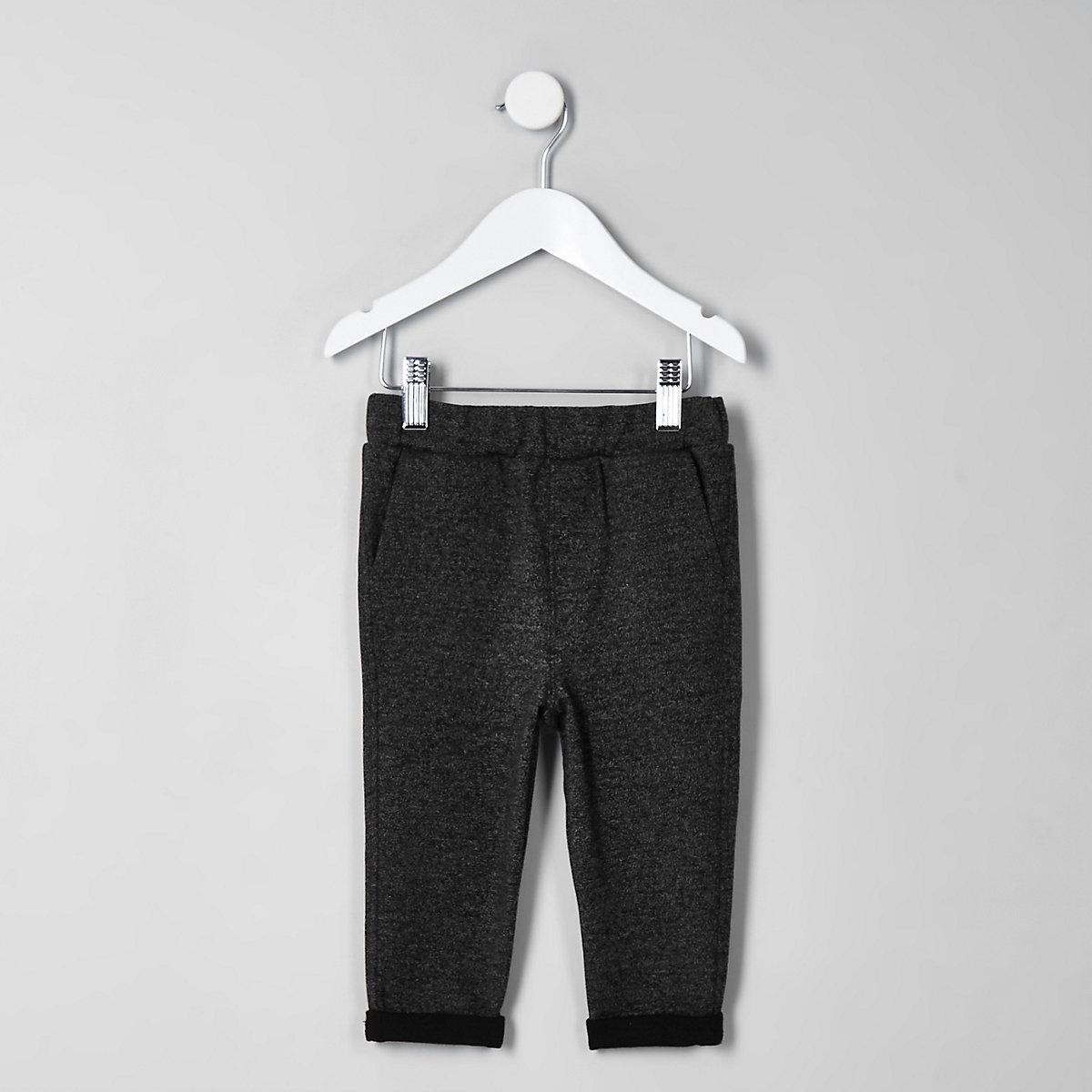 Mini boys grey marl pants