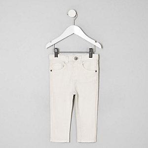 Mini boys ecru Sid skinny jeans