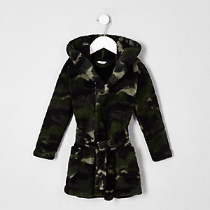 Mini boys navy camo dressing gown