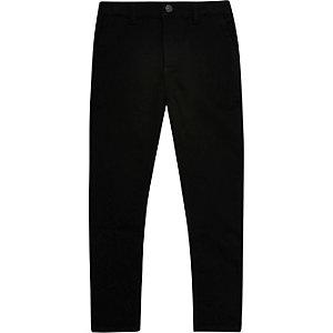Schwarze, dehnbare Skinny Hose
