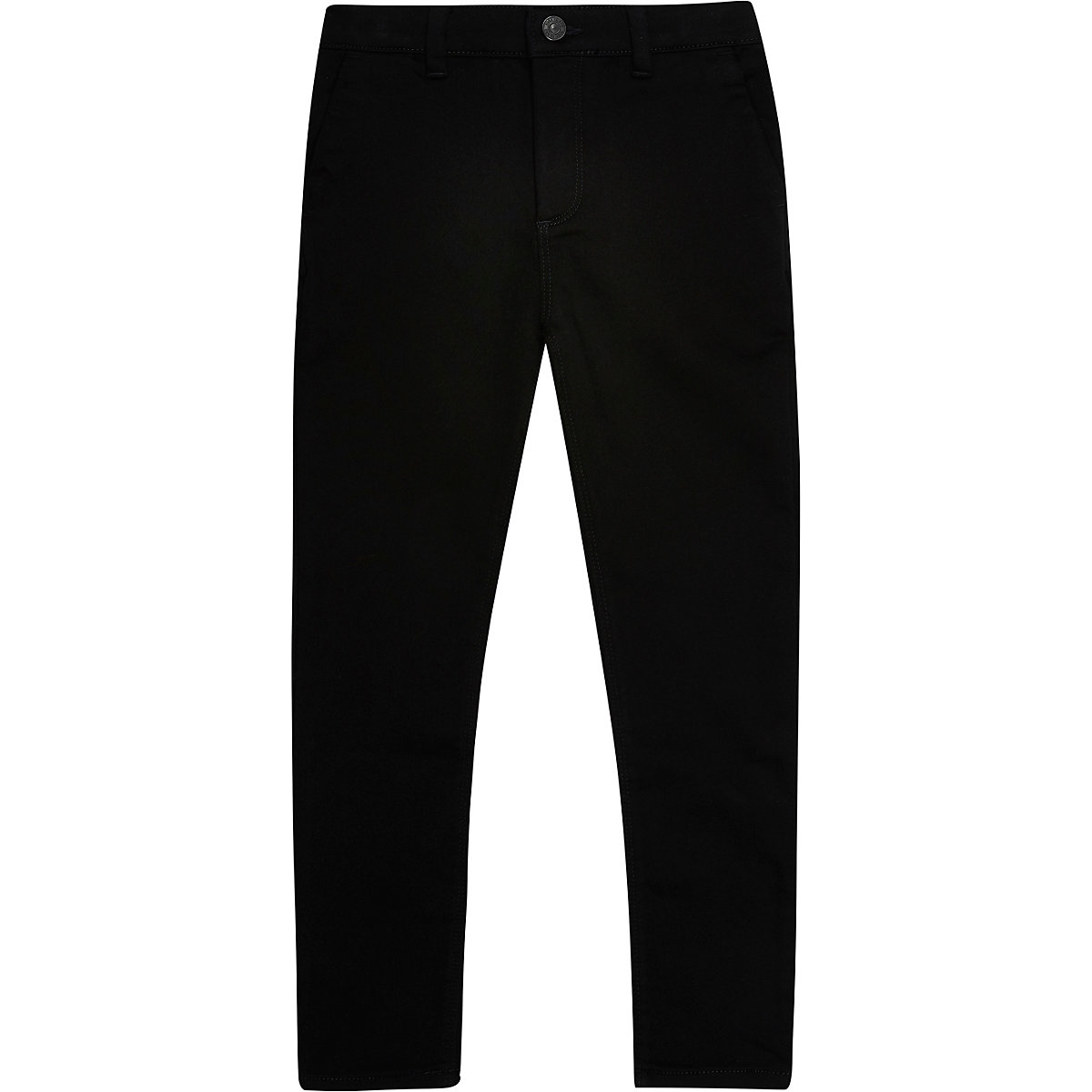 Boys black stretch skinny trousers