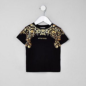 Mini boys 'exclusive' foil print T-shirt