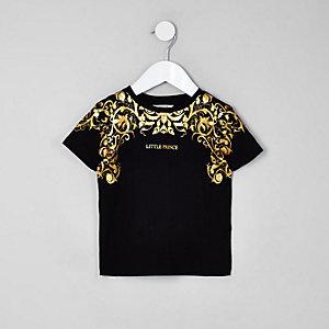 T-shirt imprimé «exclusive» métallisé mini garçon