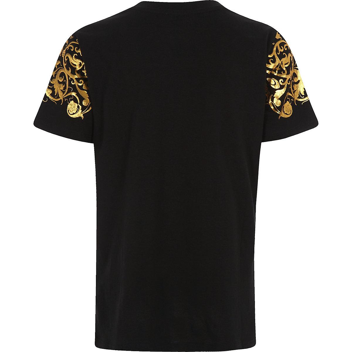 Boys Exclusive Gold Foil Print T Shirt T Shirts T Shirts