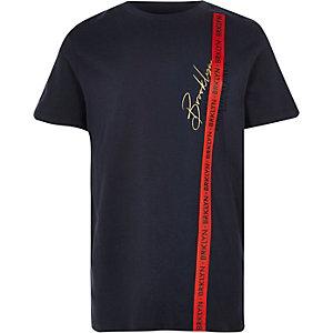 T-shirt «Brooklyn» bleu marine à bande garçon
