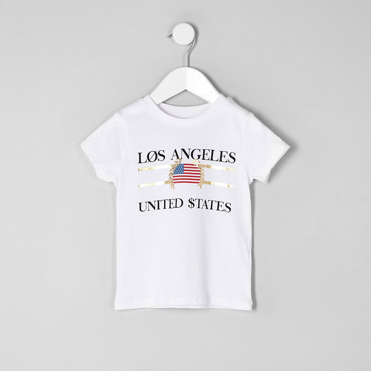 "Weißes T-Shirt ""Los Angeles"""