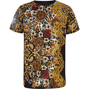 Zwart mesh T-shirt met print voor jongens