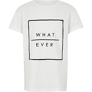 "Weißes T-Shirt ""What ever"""
