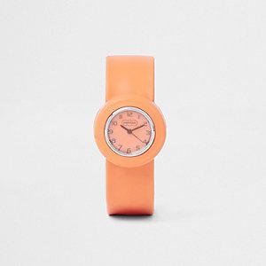 Oranje pop horloge voor jongens