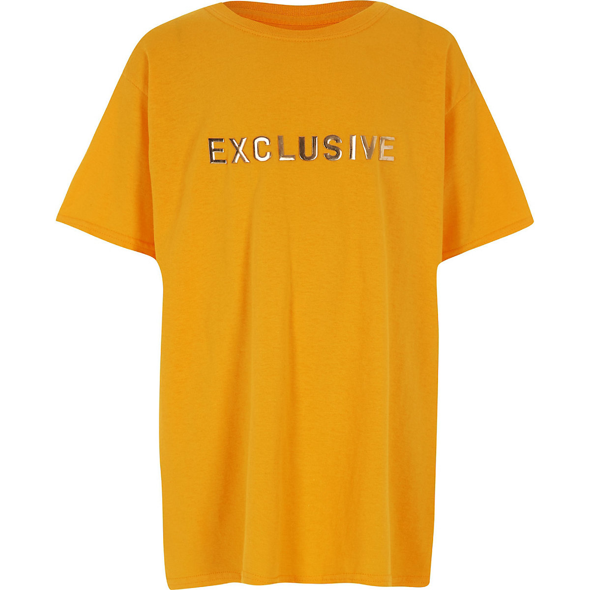 Boys yellow 'Exclusive'  oversized top
