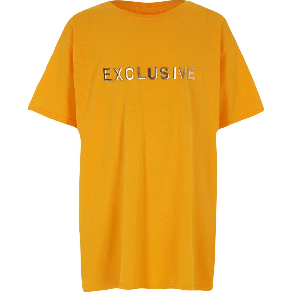 Top oversize à inscription « Exclusive » jaune garçon
