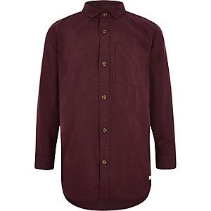 Donkerrood Oxford overhemd voor jongens