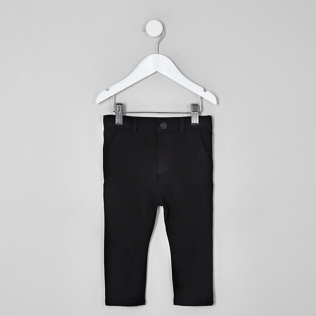 Mini boys black stretch skinny trousers