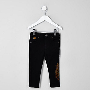 Mini boys black RI 30 skinny Sid jeans