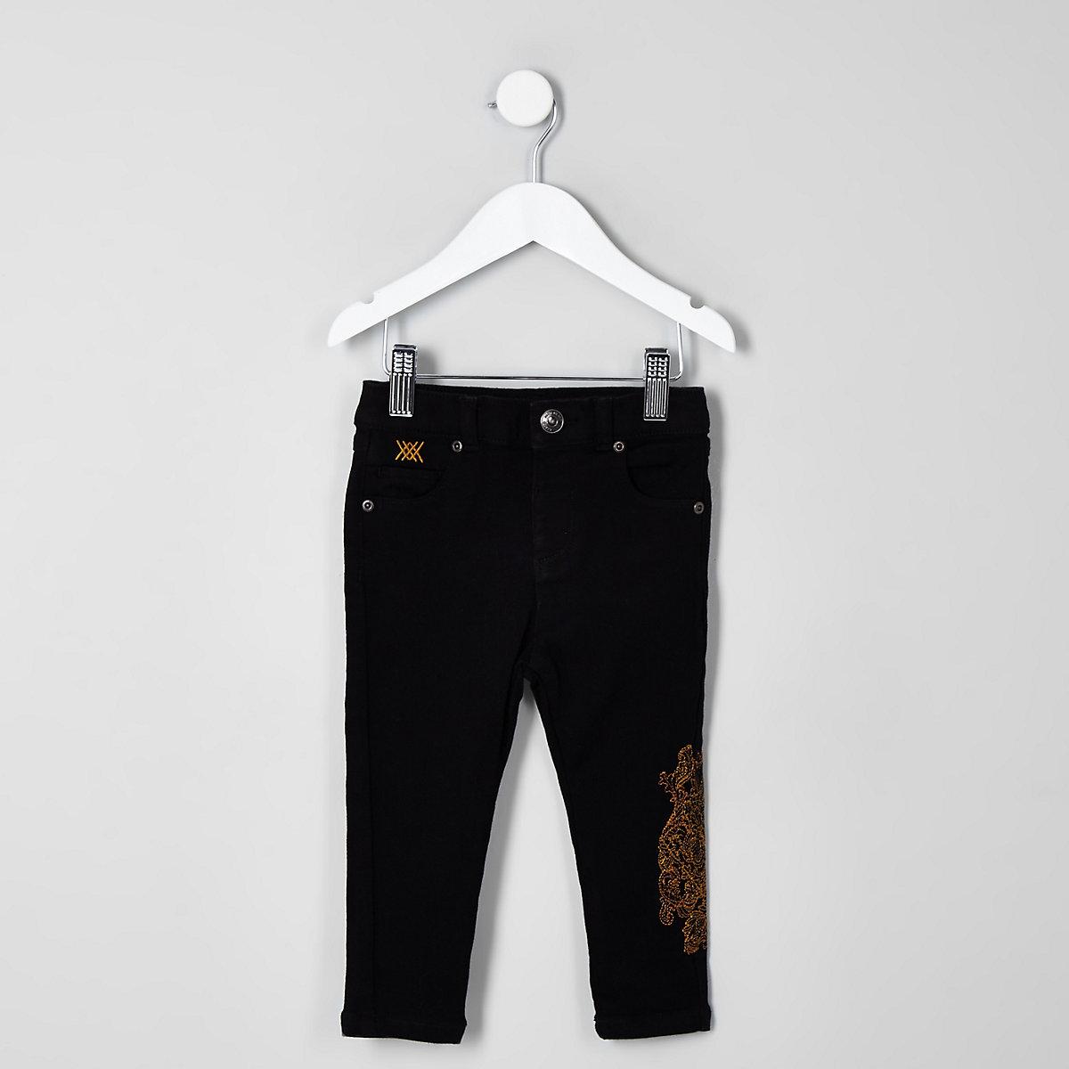 Mini boys black RI 30 skinny Sid jeans
