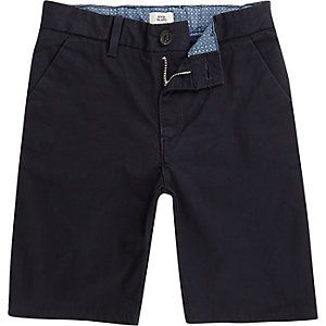 Boys navy slim fit Dylan chino shorts