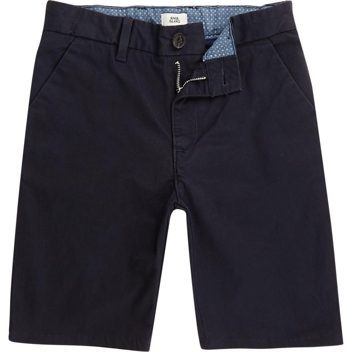 Boys navy slim fit Dylan chino shorts