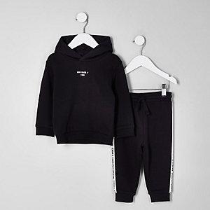 Mini boys black 'Mini dude' hoodie outfit