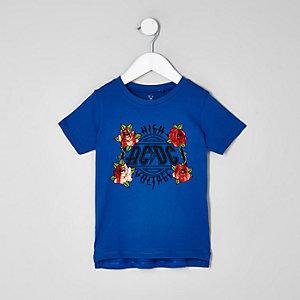 Mini - Blauw T-shirt met ACDC-print voor jongens
