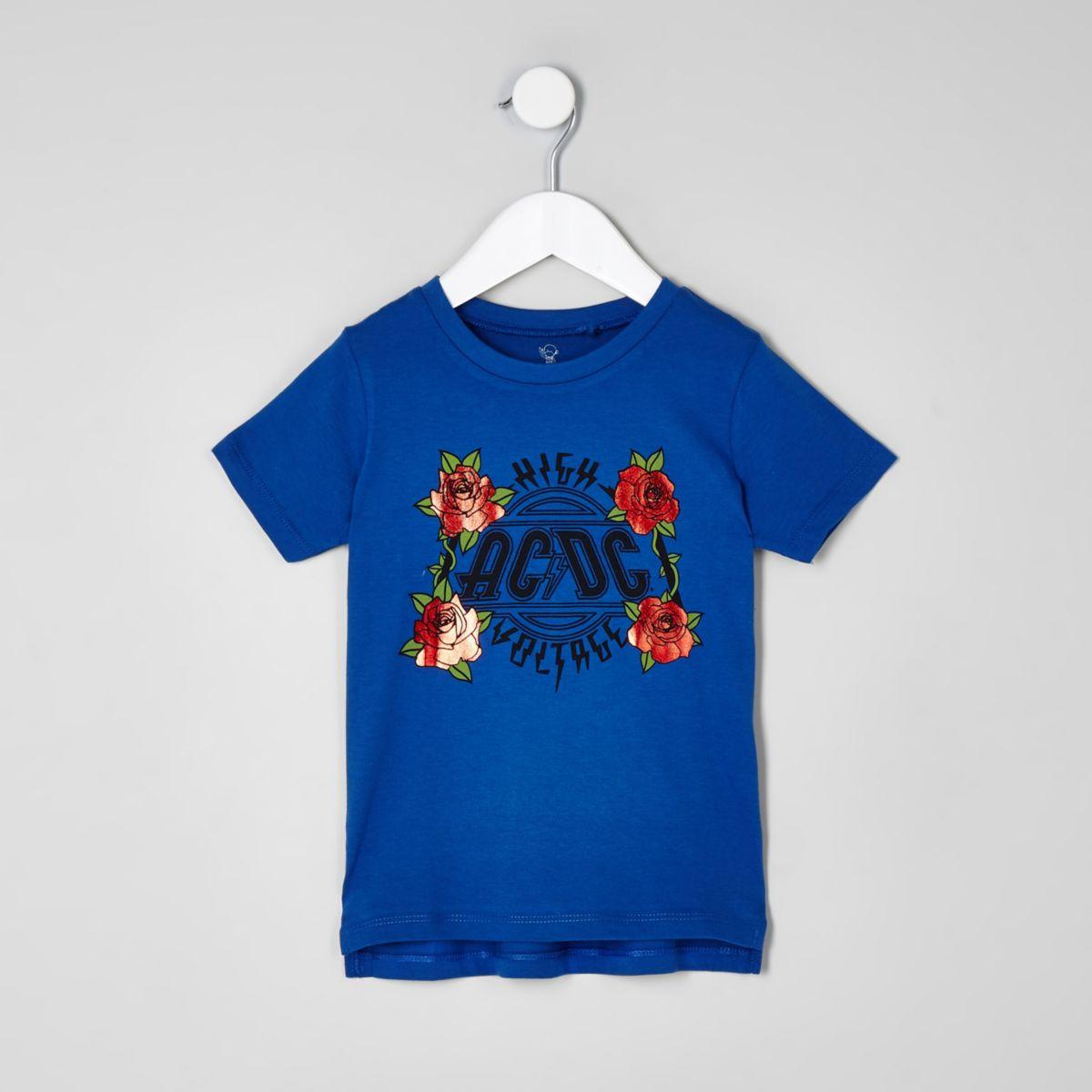 Mini boys ACDC blue print T-shirt
