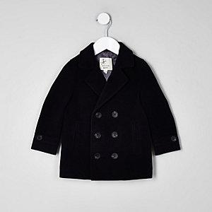 Mini - Marineblauwe wollen jas voor jongens
