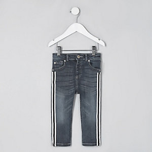 Mini boys mid blue Sid tape skinny jeans