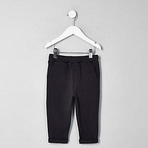 Pantalon de jogging bleu marine chiné mini garçon