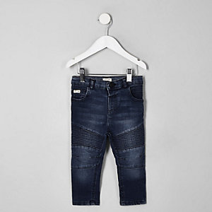 Mini boys mid blue Sid skinny biker jeans