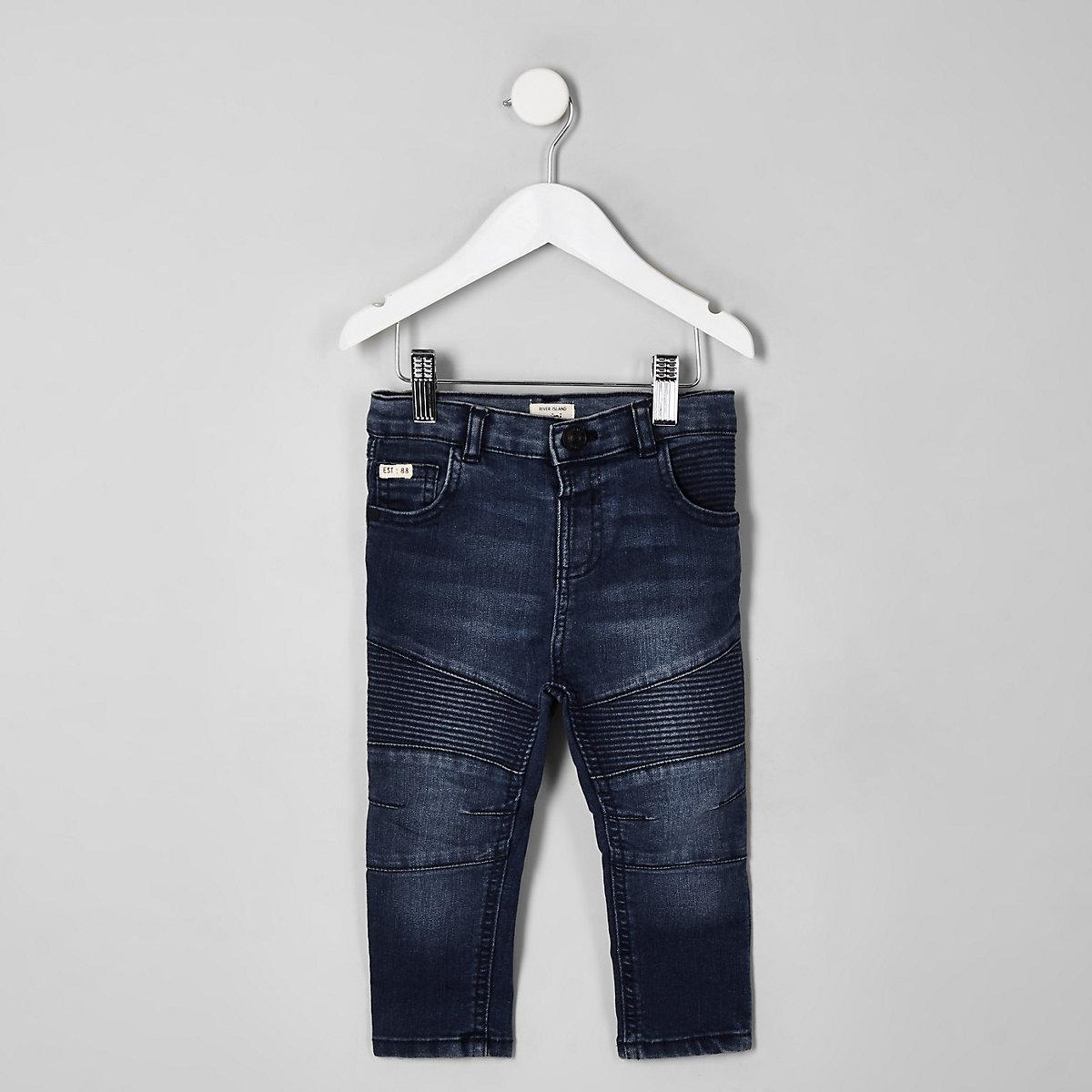 Mini boys mid blue Sid skinny biker jeans
