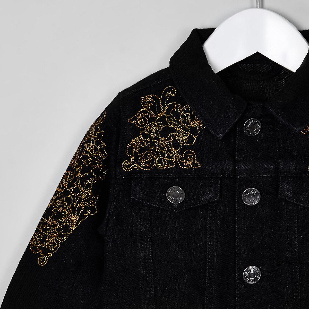 Ri 30 Mini Boys Black Denim Jacket Baby Boys Coats Jackets