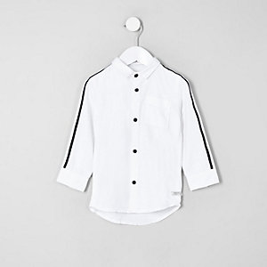 Mini boys white tape Oxford shirt
