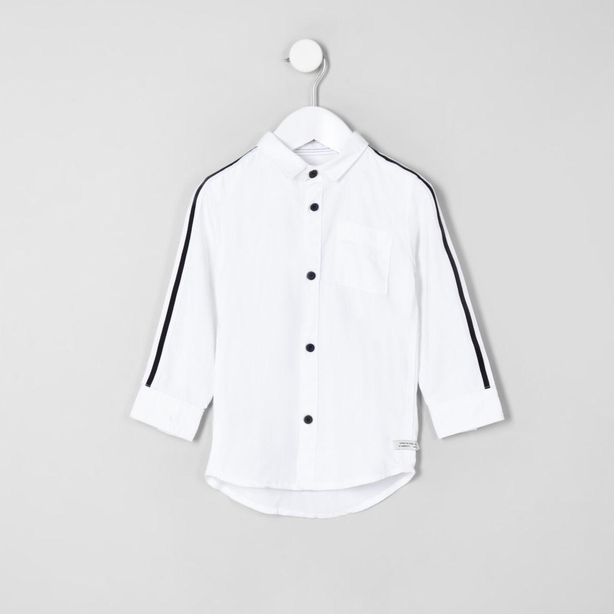 Mini boys white tape Oxford shirt