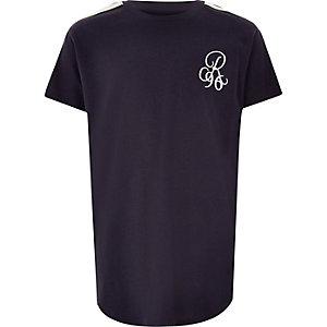 T-shirt «R96» bleu marine à ourlet arrondi pour garçon