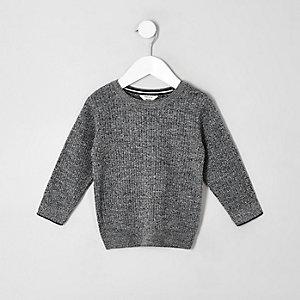 Gebreide grijze pullover voor mini boys