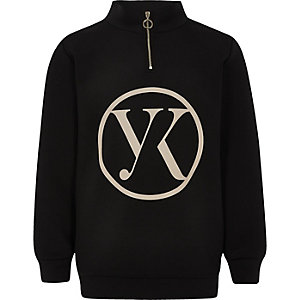 Be inclusive black zip up sweater