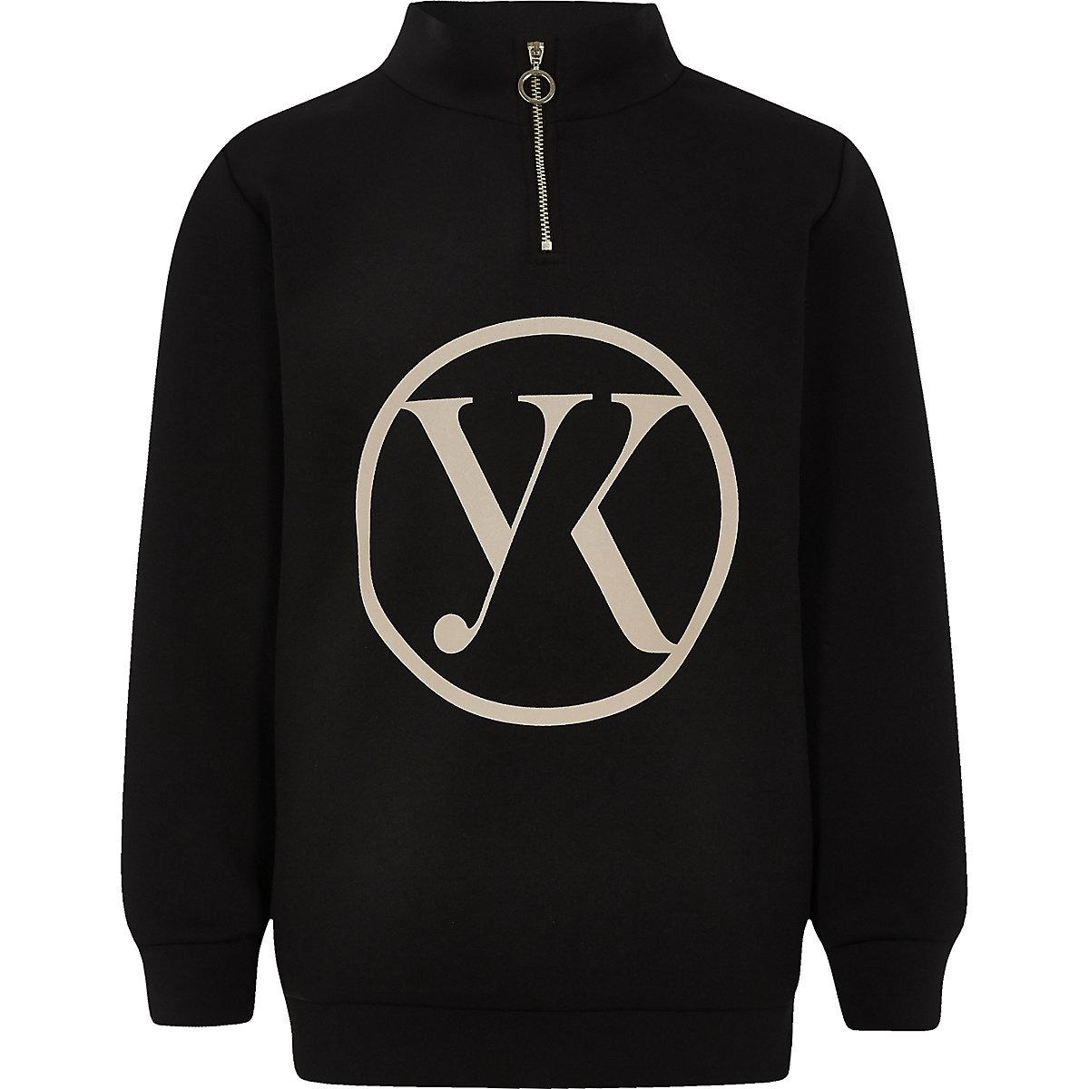 Be Inclusive – Schwarzer Pullover mit Reißverschluss