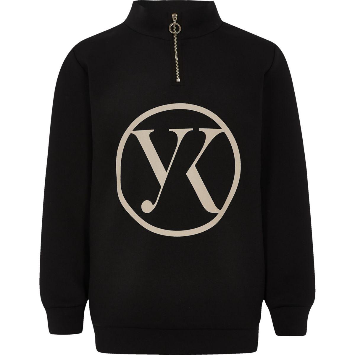 Be inclusive black zip up sweater