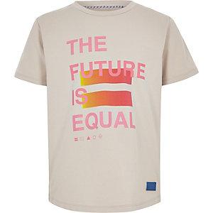 Be Inclusive – T-shirt imprimé grège