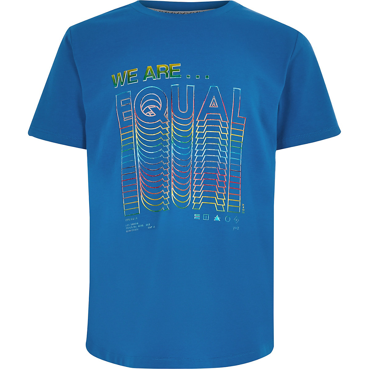 Be inclusive blue 'We are equal' T-shirt