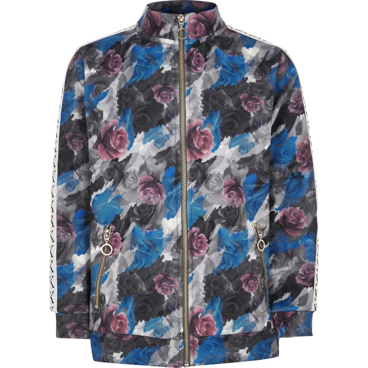 Be Inclusive grey floral track jacket